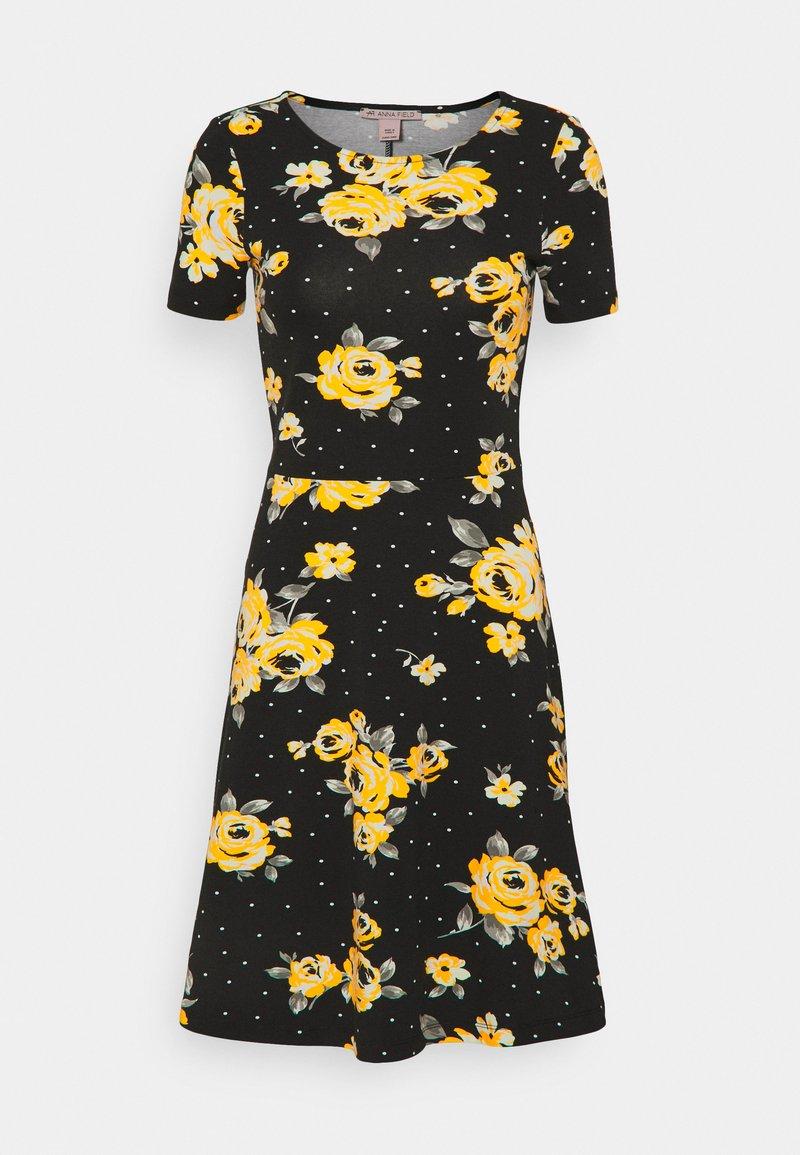 Anna Field - Vestido ligero - Black/yellow