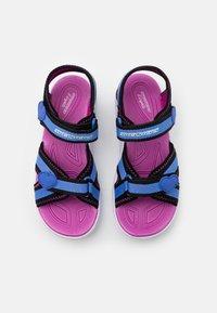 Skechers - HYPNO SPLASH - Walking sandals - blue/black/fuchsia - 3