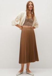 Mango - ONA - A-line skirt - středně hnědá - 0