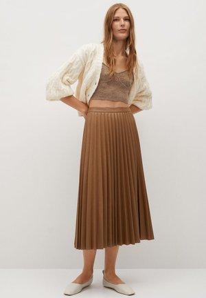 ONA - Áčková sukně - středně hnědá