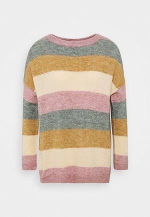 CUZIDSEL STRIPED - Jumper - woodrose melange