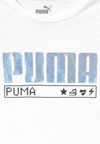 Puma - ALPHA TEE - Triko spotiskem - white - 3