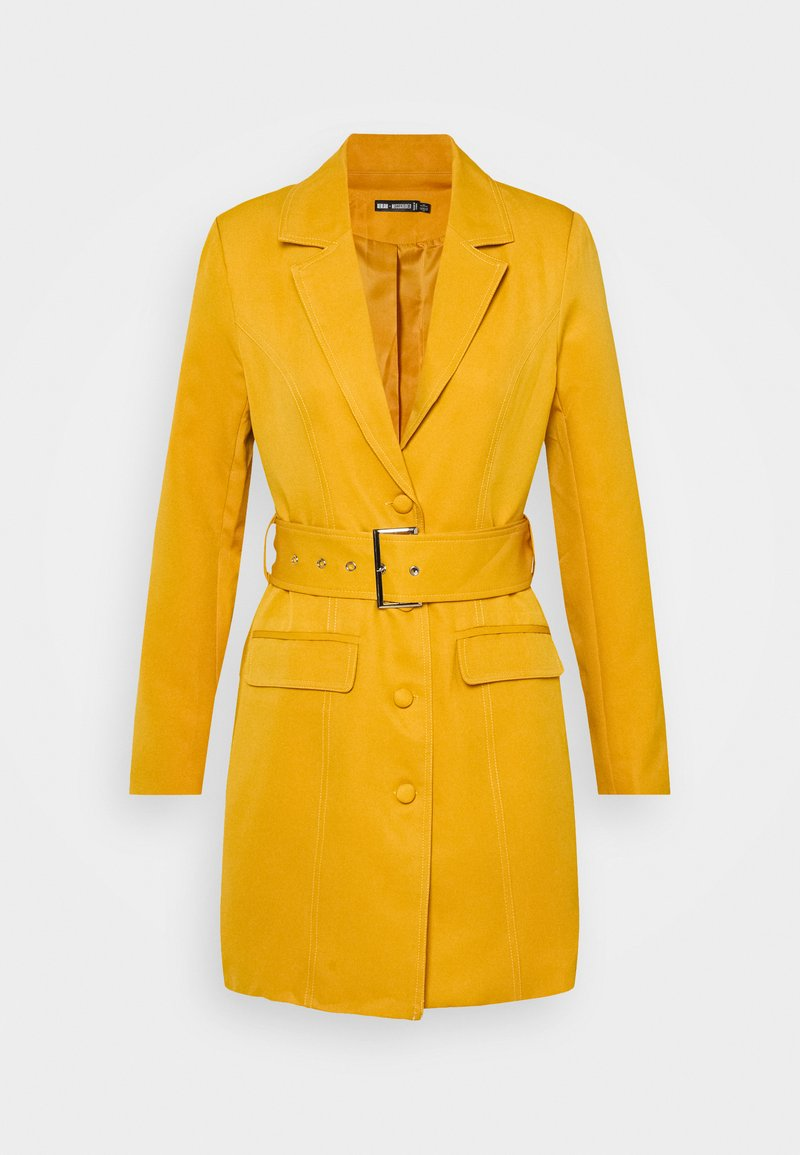 Missguided - BELTED BLAZER DRESS - Koktejlové šaty / šaty na párty - orange