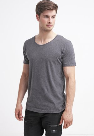 BASIC FIT O-NECK - Basic T-shirt - grey