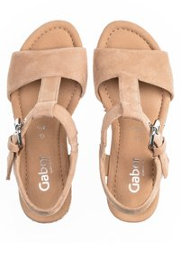 Gabor - Wedge sandals - caramel - 1