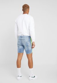 Brave Soul - JACKTAPE - Short en jean - blue wash/yellow stripe - 2