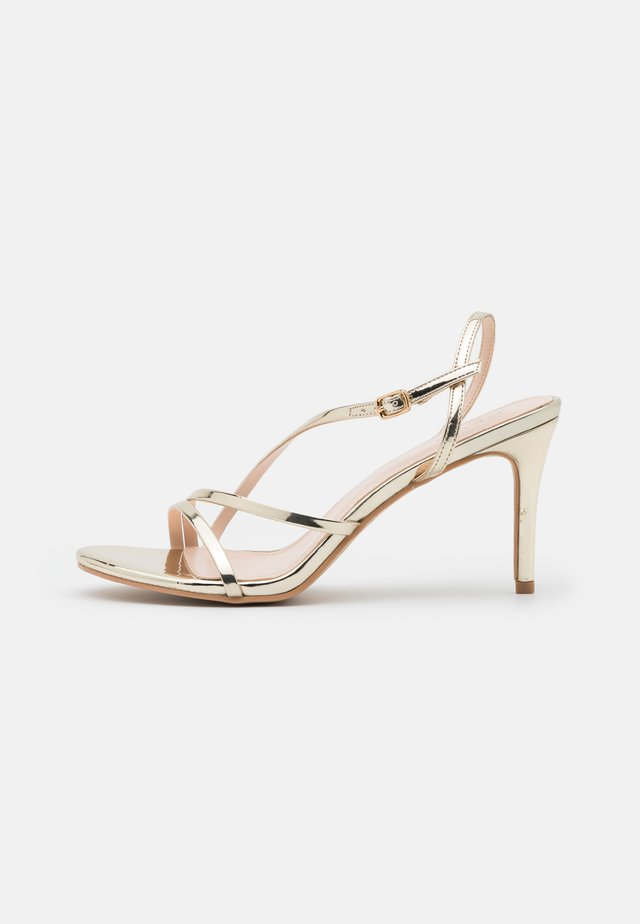 MALEO - High heeled sandals - gold