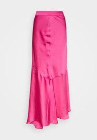 Who What Wear - ASYMMETRIC SLIP SKIRT - Maxi skirt - doll pink - 3