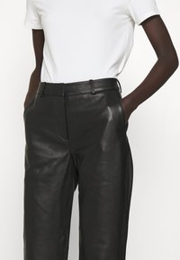 2nd Day - TIMEA - Leather trousers - jet black - 3