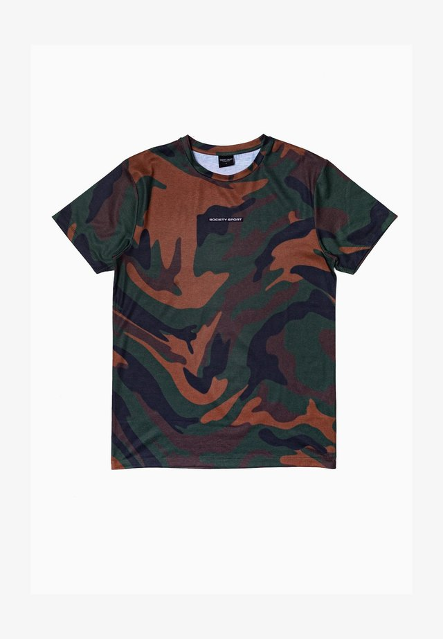 Print T-shirt - khaki/brown