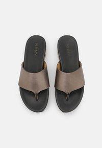 MAHONY - T-bar sandals - bronze - 5