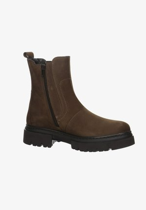 Platform ankle boots - braun
