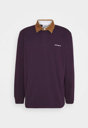 RUGBY - Poloskjorter - boysenberry/hamilton brown/white