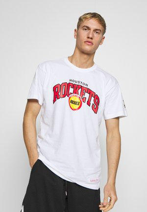 NBA HOUSTON ROCKETS ARCH LOGO TEE - Triko s potiskem - white