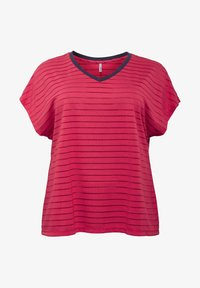 Sheego - Print T-shirt - dunkelpink - 4
