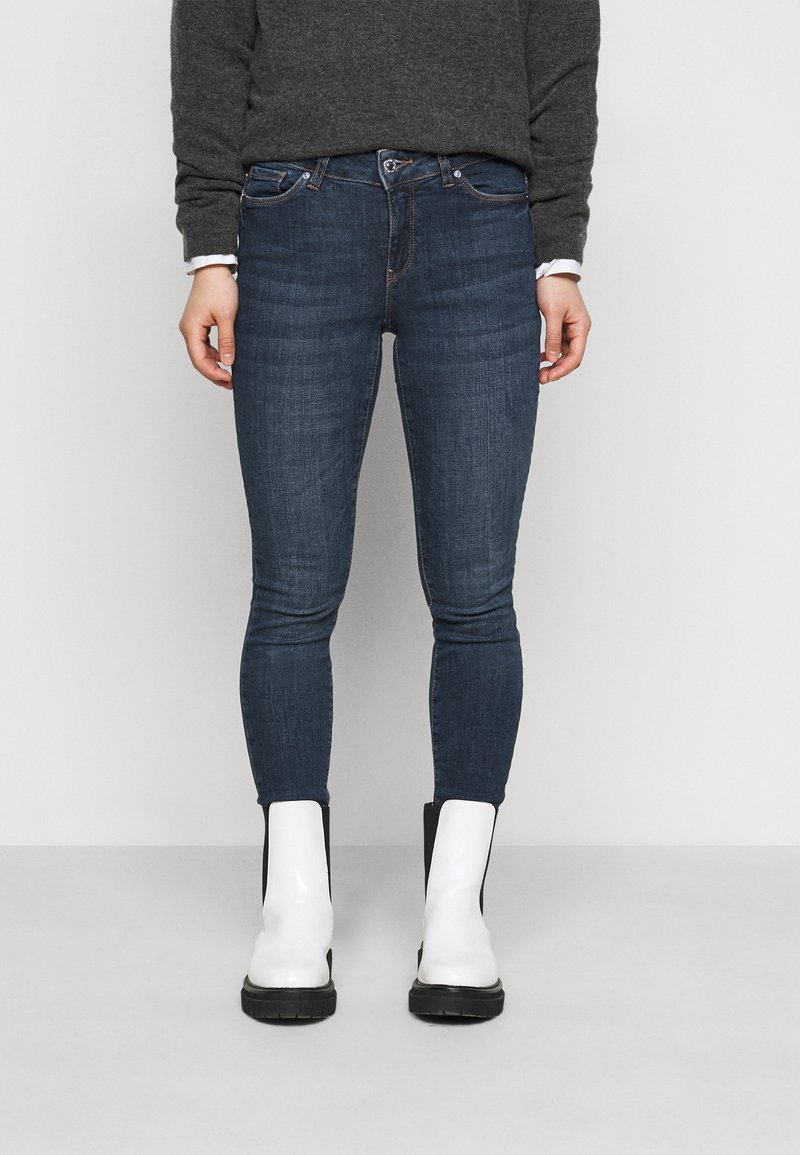 Vero Moda Petite - VMSEVEN  - Slim fit jeans - dark blue denim