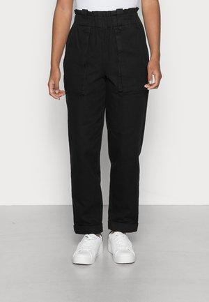 OBJMILENE PANTS - Straight leg jeans - black