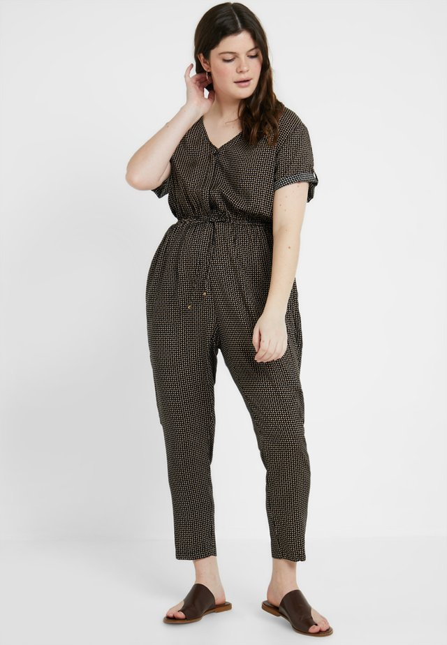 PRINTED CHANNEL WAIST - Jumpsuit - black