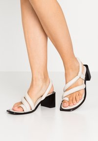 Topshop - VIDAL PADDED - T-bar sandals - white - 0