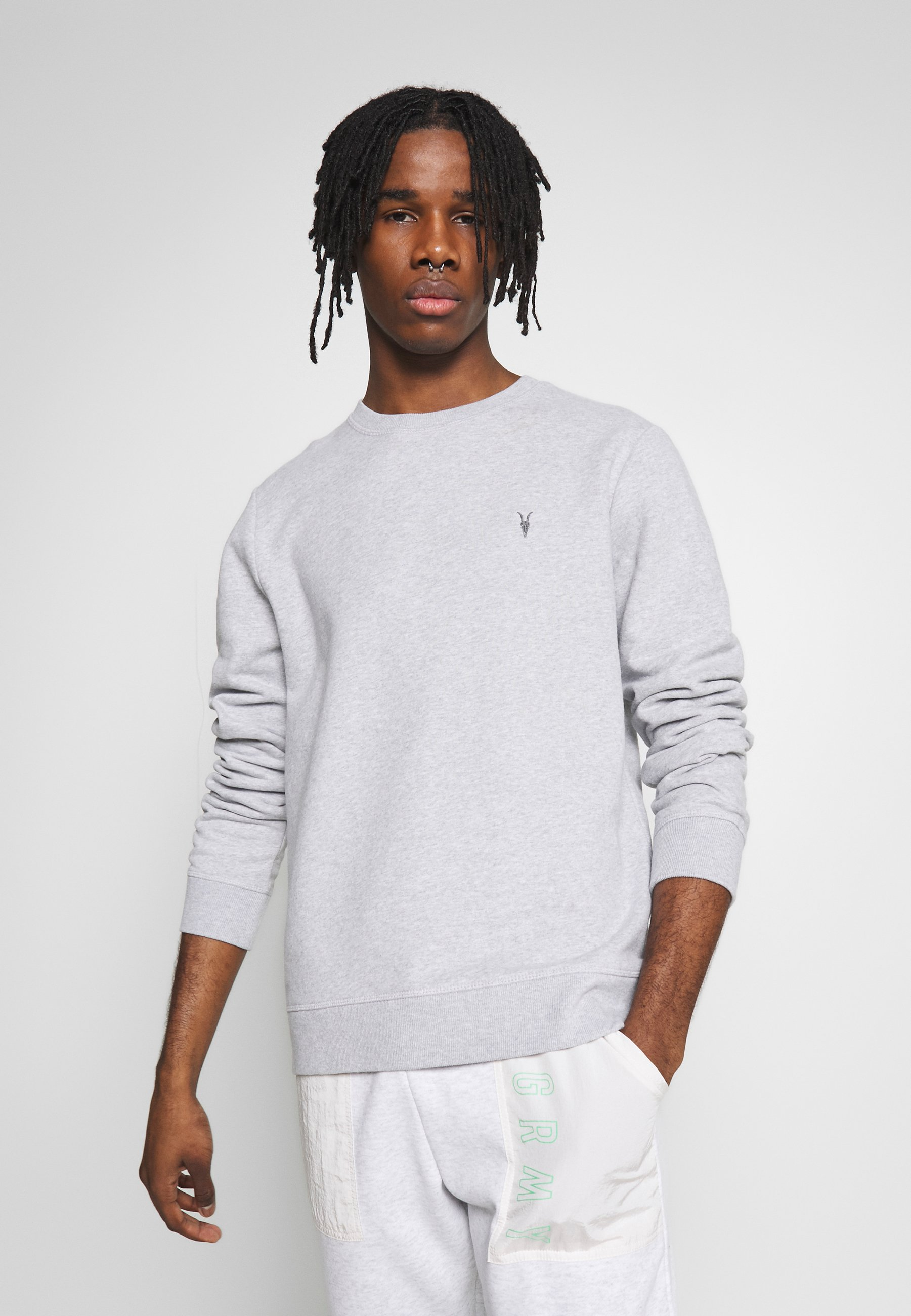 New And Fashion Online Cheapest Men's Clothing AllSaints RAVEN CREW Sweatshirt grey marl OLDbsKS7y VpkTb9zEO