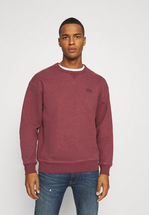 PREMIUM HEAVYWEIGHT CREW - Mikina - biking red heather