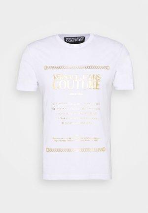 Camiseta estampada - bianco/gold