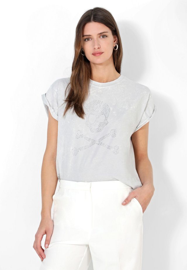 T-shirt con stampa - light grey
