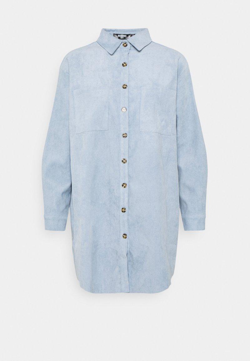 Missguided Petite - RAW HEM DRESS - Shirt dress - baby blue