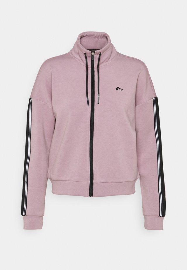 ONPMAXIE ZIP - Sweatshirt - elderberry/black