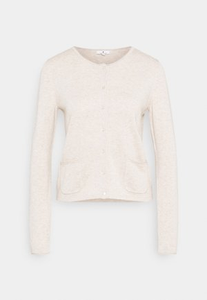 SMALL BUTTONED UP - Cardigan - sand melange