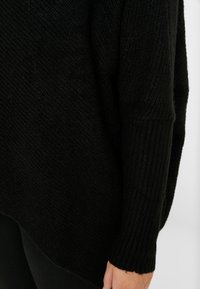CAPSULE by Simply Be - ELEVATED ESSENTIALS HIGH NECK DETAIL JUMPER - Jumper - black - 5