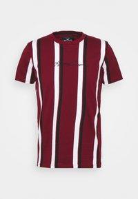 VERT STRIPE MENSWEAR - T-shirt con stampa - burgundy