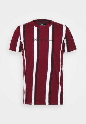 VERT STRIPE MENSWEAR - T-shirts med print - burgundy
