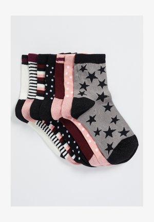 GLITTER 7 PACK - Socks - pink