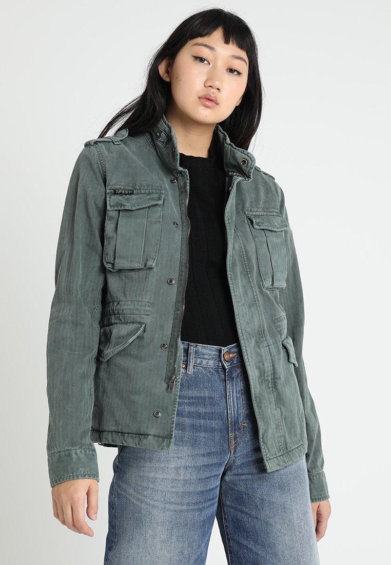 Superdry - KIONA ROOKIE POCKET JACKET - Summer jacket - green
