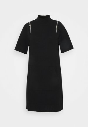 DIMI DRESS - Gebreide jurk - black