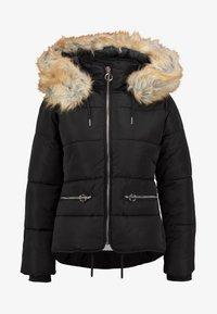 Topshop - JACK HOOD PUFFER - Winter jacket - black - 6