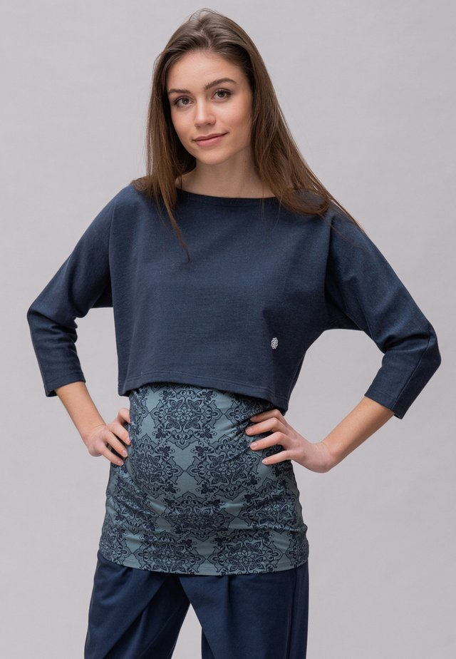 Sweater - darkblue petrol