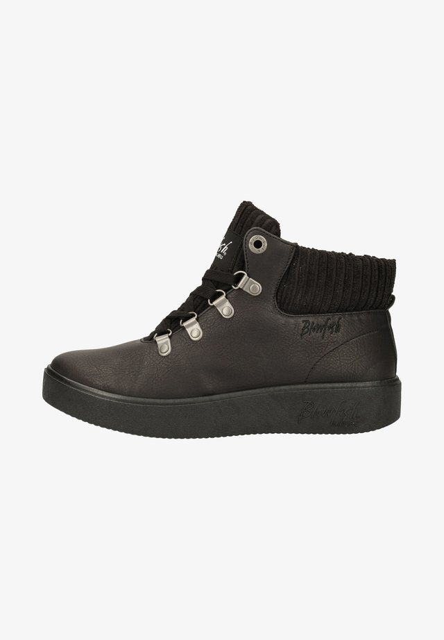Bottines à lacets - black verona