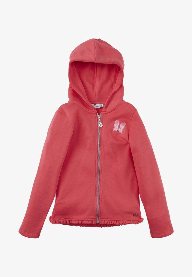 Zip-up hoodie - rouge red red