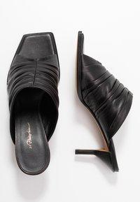 3.1 Phillip Lim - GEORGIA RUCHED MULE - Pantofle na podpatku - black - 3
