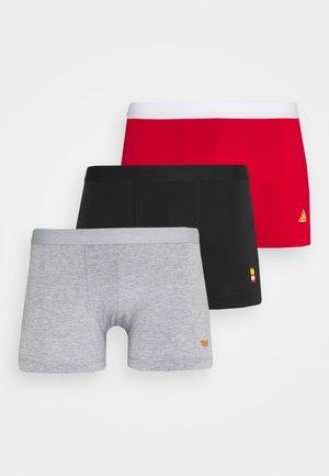 3 PACK - Underkläder - black/mottled grey/red