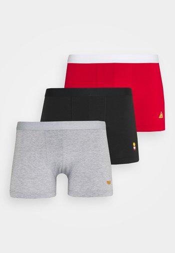 3 PACK - Boxerky - black/mottled grey/red