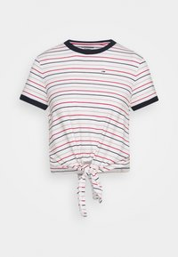 Tommy Jeans - FRONT TIE TEE - Print T-shirt - white/multi - 3