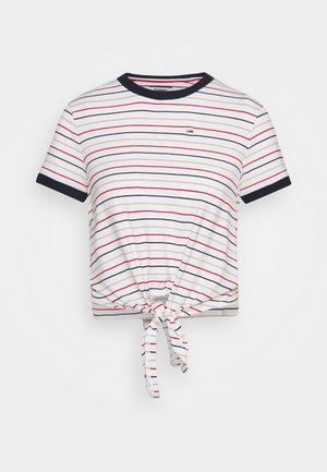 FRONT TIE TEE - Print T-shirt - white/multi