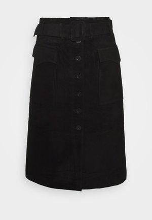 YASSOMA SKIRT - Áčková sukně - black