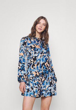 FRILLED DRESS - Korte jurk - blue