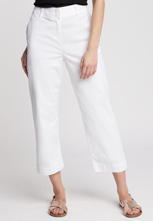 CROPPED - Trousers - white