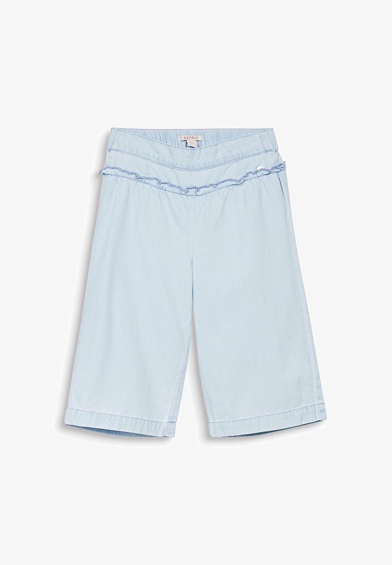 Esprit - DENIM CULOTTE - Short en jean - bleached denim