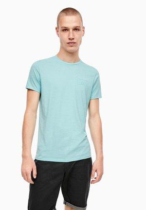 Print T-shirt - aqua melange